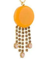 Marni - Metallic Crystalls Stone Embellished Necklace - Lyst