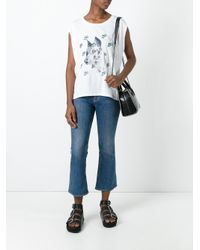 Stella McCartney - White Embroidered Floral Dog T-shirt - Lyst