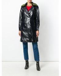 Shrimps - Blue Sinclaur Faux Leather Coat - Lyst