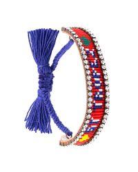 Shourouk - Red 'st. Tropez' Tassel Bracelet - Lyst