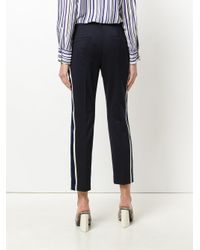 Dorothee Schumacher - Blue High Waisted Tailored Trousers - Lyst