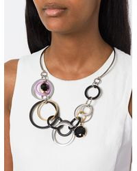 Marni - Metallic Interlocking Loop Statement Necklace - Lyst