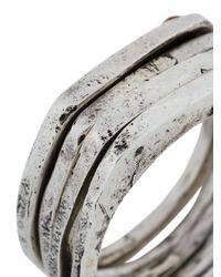 Henson | Metallic Anello 'shakudo' | Lyst