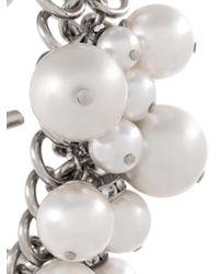 Lanvin - White Pearl-embellished Bracelet - Lyst