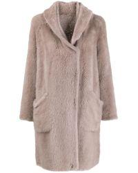 Liska Multicolor Oversized Fur Coat