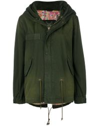 Mr & Mrs Italy - Green Short Parka Coat - Lyst