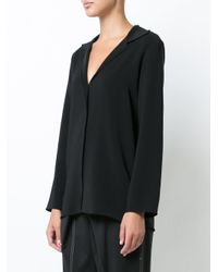 Peter Cohen - Black Deep V Shirt - Lyst