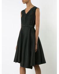 Issey Miyake - Black Slant Pleated Dress - Lyst