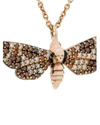 Astley Clarke - Metallic Death's Head Hawkmoth Mini Pendant Necklace - Lyst