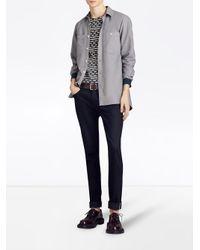 Burberry - Gray Oxford Shirt for Men - Lyst