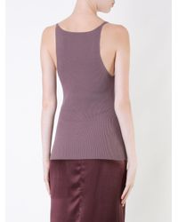 Dion Lee - Purple Ribbed Tank Top - Lyst