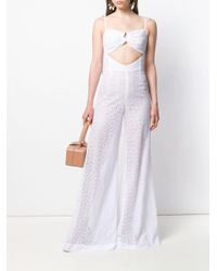 Daizy Shely White Broderie Anglaise Jumpsuit