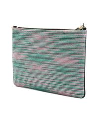 M Missoni - Multicolor Striped Clutch Bag - Lyst
