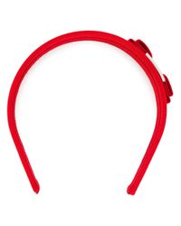 Ferragamo - Red Vara Bow Headband - Lyst