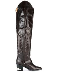 Toga Pulla - Brown Embossed Thigh High Boots - Lyst