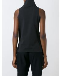 Y-3 - Black High Neck Tank Top - Lyst