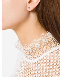 Carolina Bucci - Metallic Small Florentine Stud Earrings - Lyst