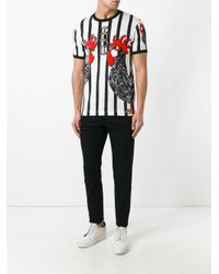 Dolce & Gabbana - Multicolor Rooster Print T-shirt for Men - Lyst