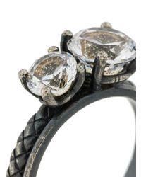 Bottega Veneta - Metallic Embellished Ring - Lyst