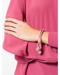 Bottega Veneta - Pink Boudoir Intrecciato Nappa Bracelet - Lyst