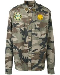 History Repeats - Green Camouflage Print Shirt for Men - Lyst