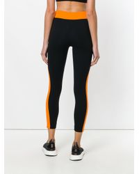 No Ka 'oi - Black Colour Block Sport Leggings - Lyst