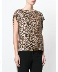 Alberto Biani - Brown Leopard Print T-shirt - Lyst