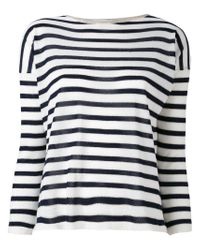 Giada Benincasa - White Striped Jumper - Lyst