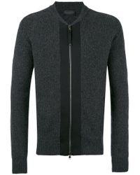 Diesel Black Gold - Gray Ribbed Cardigan for Men - Lyst
