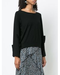 Dorothee Schumacher - Black Ruffle Detail Sweater - Lyst
