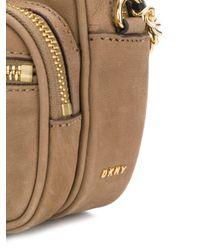 DKNY - Natural Zipped Cross Body Bag - Lyst
