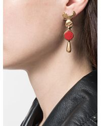 Valentino - Metallic Garavani Drop Earrings - Lyst