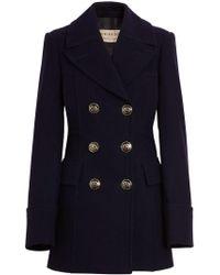 Burberry - Black Tailored Pea Coat - Lyst