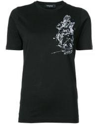 DSquared² | Black Rabbit Printed T-shirt | Lyst
