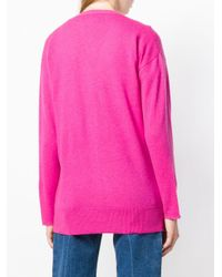 Allude - Pink Knitted Cardigan - Lyst