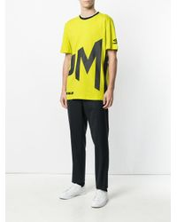House of Holland - Yellow Slogan T-shirt - Lyst