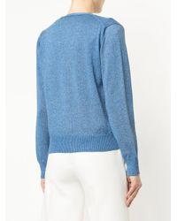 Guild Prime - Blue Lurex Knit Cardigan - Lyst