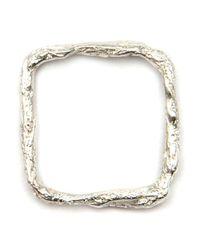 Niza Huang Metallic 'illusion Square' Ring
