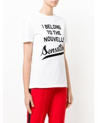 Être Cécile - White Graphic Printed T-shirt - Lyst