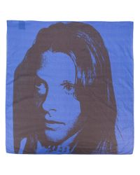 CALVIN KLEIN 205W39NYC - Blue X Andy Warhol Paint-like Printed Scarf - Lyst