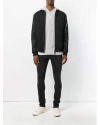 RTA - Black Distressed Slim Fit Jeans - Lyst