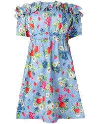 Love Moschino - Blue Short Dress - Lyst