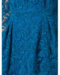 Adam Lippes - Blue Flared Lace Dress - Lyst
