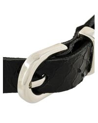 Manokhi - Black Buckle Choker - Lyst