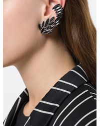 Saint Laurent - Black Climbing Earrings - Lyst