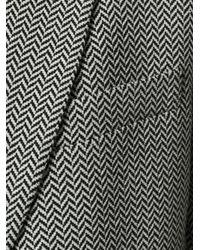 Giorgio Armani - Black Patterned Blazer for Men - Lyst