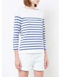 Éditions MR - White Charlotte Striped Top - Lyst