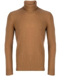 Dell'Oglio - Brown Roll-neck Jumper for Men - Lyst