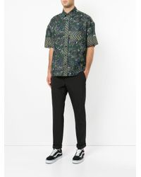 Yoshiokubo - Green Dry Leaf Printed Shirt for Men - Lyst