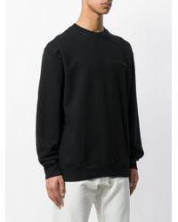 Eckhaus Latta Black Logo Long-sleeve Sweatshirt for men